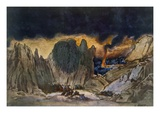 Scenery Design from Phedre  1917 (Colour Litho)