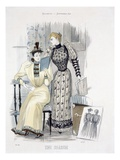 The Season  Fashion Plate for 'The Queen'  September 1892 (Coloured Engraving)