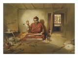 A Buddhist Monk  from 'India Ancient and Modern'  1867 (Colour Litho)