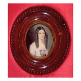 Portrait of Marie Duplessis (1824-1847) also known as 'La Dame Aux Camelias'  1847 (W/C on Paper)