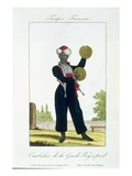 Cymbal Player of the Royal Guard  C1790 (Colour Litho)