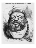 Caricature of Theophile Gautier as an Academician  Illustration from 'L'Eclipse'  2nd May 1869