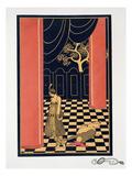 Tamara Karsavina (1885-1978) in the Title Role of 'Thamar', 1914 (Pochoir Print) Giclée par Georges Barbier