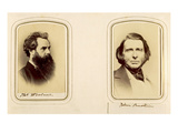 Portraits of Thomas Woolner and John Ruskin (Sepia Photo)