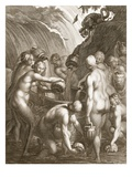 The Danaids Condemned to Fill Bored Vessels with Water  1730 (Engraving)