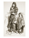 Woman and Girl of the Saltmarket  Glasgow  from 'The Illustrated London News'  1849 (Engraving)