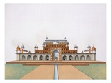 Mausoleum of Akbar the Great at Sekandra (Colour Litho)
