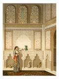Cairo: Interior of the Domestic House of Sidi Youssef Adami  19th Century (Chromolitho)