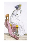 Lady Wearing a Negligee  from 'Costume Parisien'  Published in 'Journal Des Dames Et Des Modes'