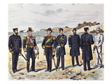 German Naval Uniforms  Late 19th Century (Colour Litho)
