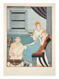 Blood Letting from the Foot  Illustration from 'The Works of Hippocrates'  1934 (Colour Litho)