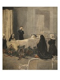 Madame Carnot on Her Deathbed  Illustration from 'Le Petit Journal: Supplement Illustre'