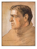 Portrait of Shackleton  from 'The Heart of the Antarctic' by Sir Ernest Shackleton (1874-1922)