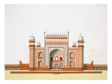 Entrance to the Taj Mahal (Colour Litho)