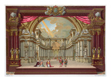 Set Design for the Theatre at Versailles (Colour Litho)