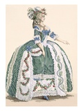 An Elaborate Royal Court Gown  Engraved by Dupin  Plate No272