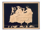Couple Relaxing with a Lyre  Published 1808-10 (Colour Litho)