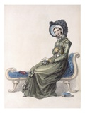 Day Dress  Fashion Plate from Ackermann's Repository of Arts (Coloured Engraving)