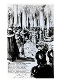 The Crowning of Charles Vii in Reims  C1910 (Engraving)