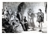 The Trial of Joan of Arc in Rouen (Engraving)