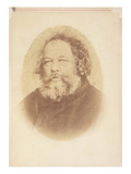 Portrait of Mikhail Alexsandrovich Bakunin (1814-1876)  by OMeistring  Geneva 1867 (Sepia Photo)