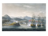 The Squadron under the Command of Sir J Brisbane Attacking Fort Maurigio  on 12th April  1814