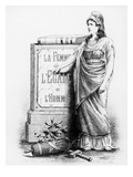 A Woman Is Equal to a Man  Printed by Lemercier and Co  Paris  1881 (Litho)
