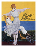 Advertisement for 'Luxite Hosiery'  from 'Vogue' Magazine  1919 (Colour Litho)