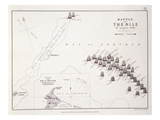 Plan of the Battle of the Nile  1st August 1798  C1830S (Engraving)