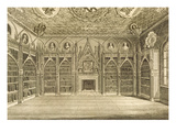 The Library  Engraved by Godfrey  from 'Description of Strawberry Hill' by Horace Walpole  1784