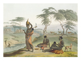 Boosh Wannahs  Plate 8 from 'African Scenery and Animals'  Engraved by the Artist  1804 (Aquatint)