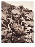 In the British Trenches at Salonika: a Sergeant Using His Periscope