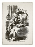 King Alfred Translating the Psalms (Litho)