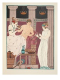 Music Therapy  Illustration from 'The Works of Hippocrates'  1934 (Colour Litho)