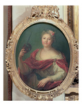 Mlle Desmares as Thalia  Muse of Comedy  C1720 (Oil on Canvas)