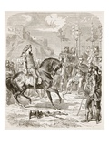 Vercingetorix before Caesar (Litho)
