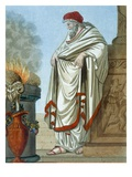 Pontifex Maximus  Illustration from 'L'Antique Rome'  Engraved by Labrousse  Published 1796