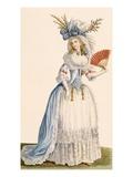 Ladies Turkish Style Evening Dress  from 'Galeries Des Modes Et Costumes Francais'  C1778-87