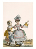 Children at Play  Engraved by Patas  Plate from 'Galeries Des Modes Et Costumes Francais' C1778-87