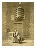 Cairo: Funerary or Sepuchral Mosque of Sultan Barquoq Seated Imam Reading the Koran