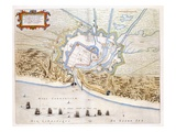 City of Dunkirk During the Spanish Domination: Plan Showing the Coastal Defences
