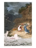 Two Early Regency Belles Caught on a Foreshore by a Storm  Engraved by Joseph Constantine Stadler