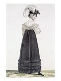 Lady in Velvet Morning Dress  Plate 24 from the 'Incroyable Et Merveilleuse'