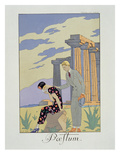 Paestum  1924 (Pochoir Print)
