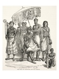 The King of Ashantee and His Guards (Litho)