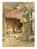 Delhi - Jeweller  from 'India Ancient and Modern'  1867 (Colour Litho)