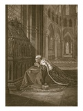 Lewis Vii  King of France  before Beckett&#39;s Tomb  Engraved by W Sharp