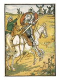 Don Quixote and the Windmills  Illustration from 'Don Quixote of the Mancha' Retold by Judge Parry