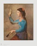 La femme à l'éventail Reproduction pour collectionneurs par Pablo Picasso