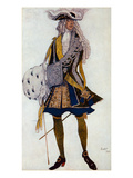 Costume Design for the King  in the Garden  from Sleeping Beauty  1922 (Colour Litho)
